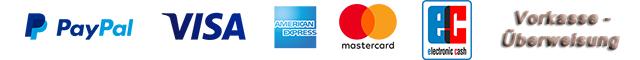 Logo Zahlungsart Paypal Lastschrift Kreditkarte Vorkasse